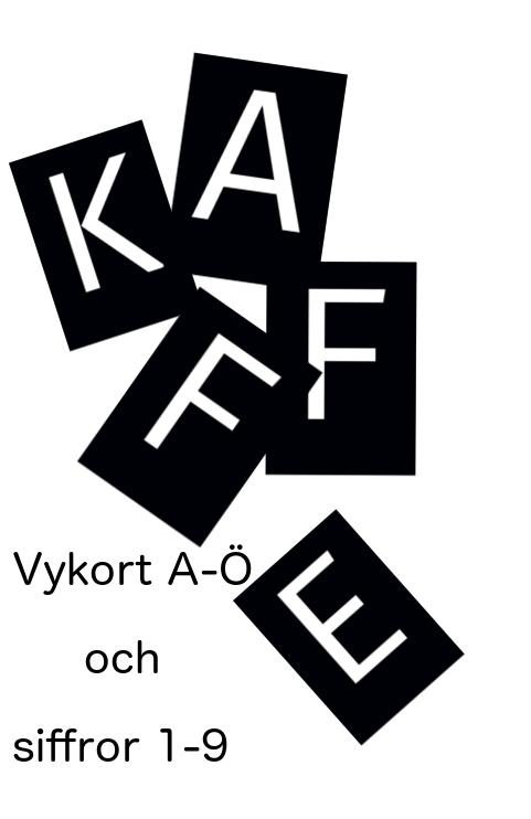 Vykort bokstäver A - Ö & siffror