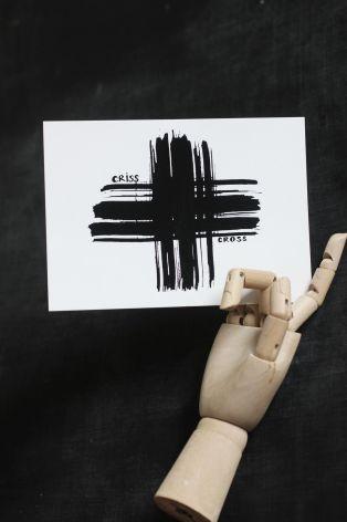 "Vykort ""Criss cross"""