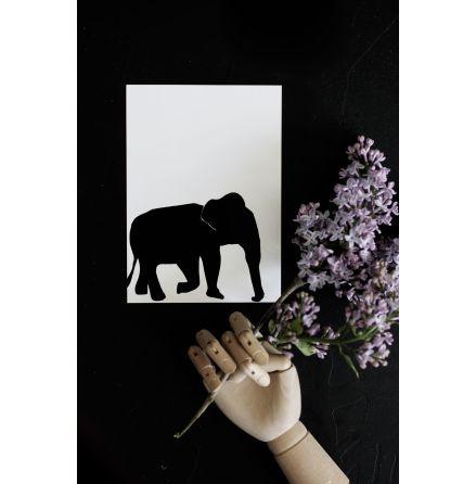 "Vykort ""Elefant"""