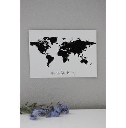"""Vykort världskarta """"You mean the..."""""""