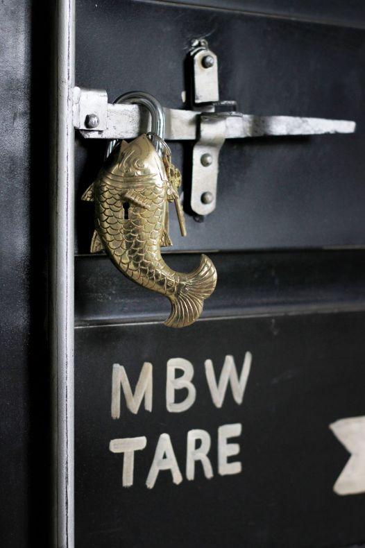 Lås KOI fisk mässing